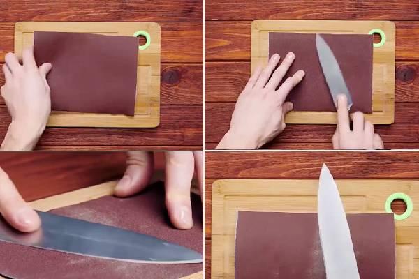 Sử dụng giấy nhám để mài dao hiệu quả