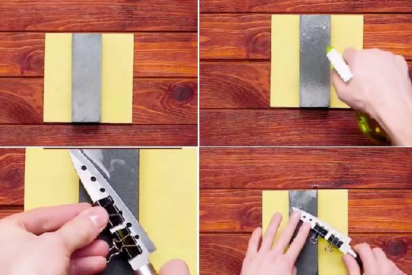 Một cách khác để mài dao