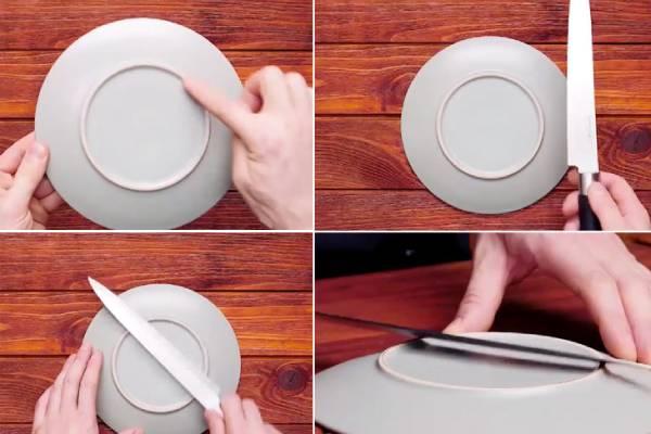 Sử dụng bát đĩa để mài dao